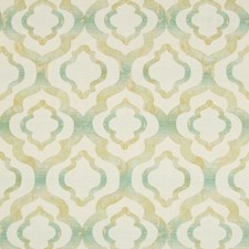 Beige/Light Green/Yellow Geometric Drapery and Upholstery Fabric by Kravet