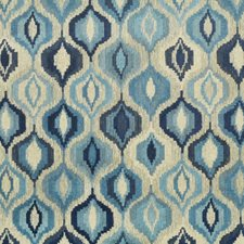 Blues Drapery and Upholstery Fabric by Clarence House