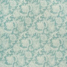 Light Blue/Beige Botanical Drapery and Upholstery Fabric by Kravet