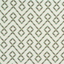 Green/Rust/White Lattice Drapery and Upholstery Fabric by Kravet