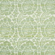 White/Green/Light Blue Damask Drapery and Upholstery Fabric by Kravet
