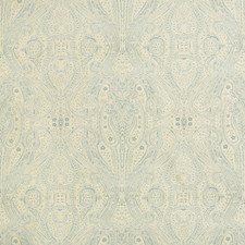 Light Blue/Beige Paisley Drapery and Upholstery Fabric by Kravet