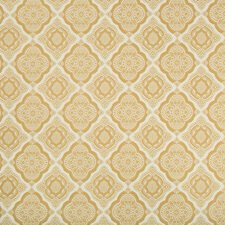 White/Camel Medallion Drapery and Upholstery Fabric by Kravet