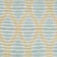 Gold/Light Blue/Beige Modern Drapery and Upholstery Fabric by Kravet