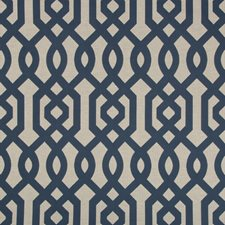 Blue/Ivory/Beige Lattice Drapery and Upholstery Fabric by Kravet