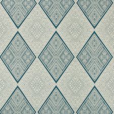 Blue/Ivory/Beige Diamond Drapery and Upholstery Fabric by Kravet