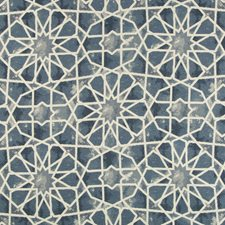 Blue/Dark Blue/Ivory Ethnic Drapery and Upholstery Fabric by Kravet