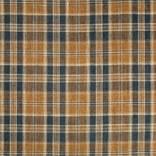 Dark Blue/Beige/Brown Plaid Drapery and Upholstery Fabric by Kravet