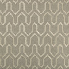 Grey/Beige Geometric Drapery and Upholstery Fabric by Kravet