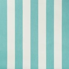 Turquoise/White Stripes Drapery and Upholstery Fabric by Kravet
