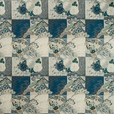 Indigo Asian Drapery and Upholstery Fabric by Kravet