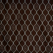 Mocha Mint Embroidery Drapery and Upholstery Fabric by Fabricut