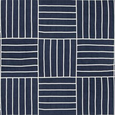 Indigo Geometric Drapery and Upholstery Fabric by Kravet