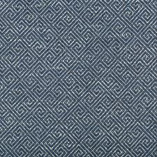 Indigo/White/Blue Geometric Drapery and Upholstery Fabric by Kravet