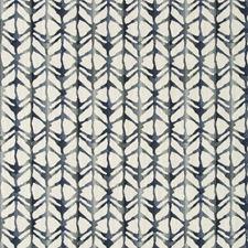 White/Indigo/Blue Geometric Drapery and Upholstery Fabric by Kravet