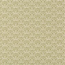 Green/Sage/Celery Geometric Drapery and Upholstery Fabric by Kravet