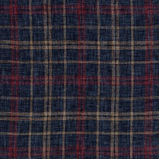 Dark Blue/Red/Brown Plaid Drapery and Upholstery Fabric by Kravet
