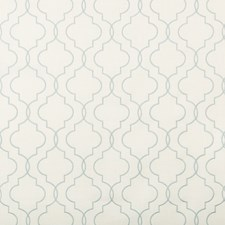 White/Blue Geometric Drapery and Upholstery Fabric by Kravet