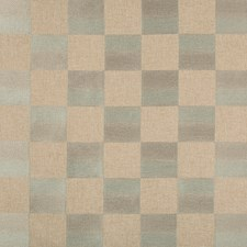 Beige/Green/Silver Geometric Drapery and Upholstery Fabric by Kravet