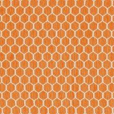 Orange Geometric Drapery and Upholstery Fabric by Kravet