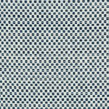White/Blue/Light Blue Small Scale Drapery and Upholstery Fabric by Kravet