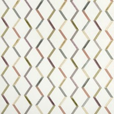 White/Multi/Yellow Geometric Drapery and Upholstery Fabric by Kravet