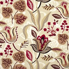 Damson Floral Drapery and Upholstery Fabric by Fabricut
