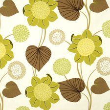 Pistachio Floral Drapery and Upholstery Fabric by Fabricut