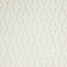 Aqua Embroidery Drapery and Upholstery Fabric by Fabricut