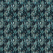 Teal Contemporary Drapery and Upholstery Fabric by Stroheim