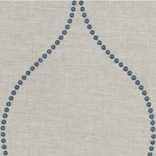 Beige/Teal/Blue Dots Drapery and Upholstery Fabric by Kravet