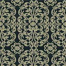 Ink Blue Damask Drapery and Upholstery Fabric by Kravet