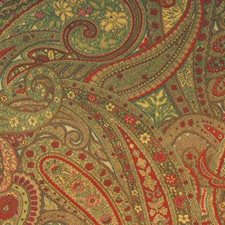 Red/sage Drapery and Upholstery Fabric by Duralee