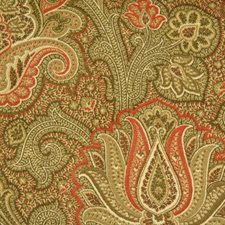 Natural/red Drapery and Upholstery Fabric by Duralee