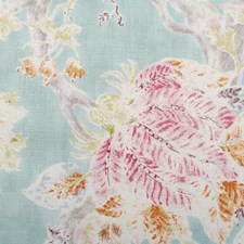 Seaglass Floral Stylized Drapery and Upholstery Fabric by Duralee