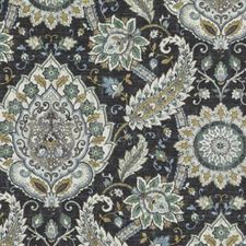 Marine Floral Large Drapery and Upholstery Fabric by Duralee