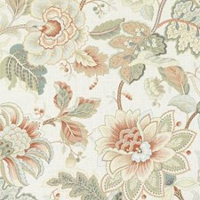 Spring Green Floral Large Drapery and Upholstery Fabric by Duralee
