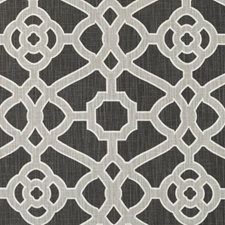 Coal Geometric Drapery and Upholstery Fabric by Duralee