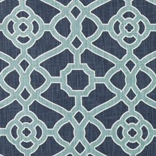 Blue/Turquoise Geometric Drapery and Upholstery Fabric by Duralee