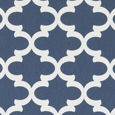 Azure Medallion Drapery and Upholstery Fabric by Duralee