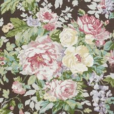 Pink/Brown Floral Large Drapery and Upholstery Fabric by Duralee