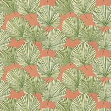 Coral Leaf Leaves Drapery and Upholstery Fabric by Stroheim