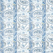Blueberry Paisley Drapery and Upholstery Fabric by Fabricut