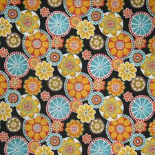 Techno Floral Drapery and Upholstery Fabric by Trend