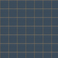 Blue Topaz Check Drapery and Upholstery Fabric by Stroheim