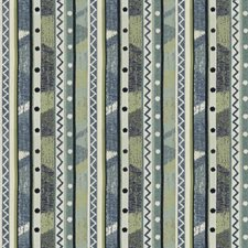 Laurel Blue Global Drapery and Upholstery Fabric by Stroheim