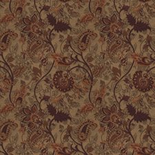 Wine Floral Drapery and Upholstery Fabric by Trend