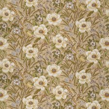 Natural Floral Drapery and Upholstery Fabric by Trend