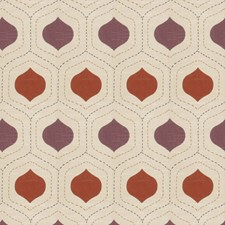Plum Spice Print Pattern Drapery and Upholstery Fabric by Fabricut