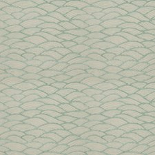 Aqua Jacquard Pattern Drapery and Upholstery Fabric by Fabricut